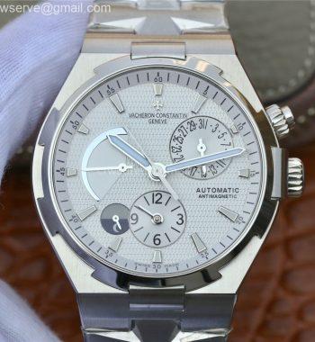 Overseas Dual Time Power Reserve TWA White Dial SS Bracelet A1222