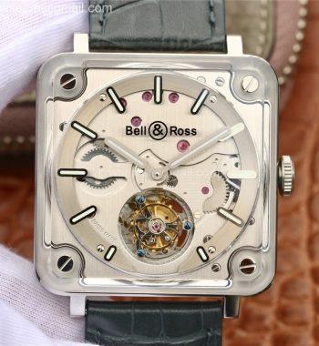 BR-X2 Sapphire Tourbillon BBR Steel Dial Gray Leather Strap V2