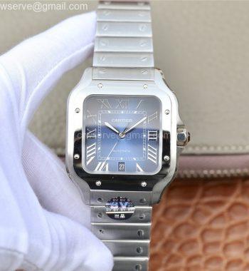 Santos de Cartier 40mm 2018 BVF Edition Blue Dial SS SmartLinks Bracelet MIYOTA 9015