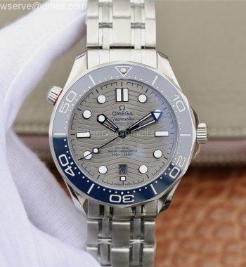 2018 Seamaster Diver 300M OMF Edition Blue Ceramic Gray Dial SS Bracelet A8800