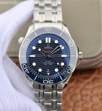 2018 Seamaster Diver 300M OMF Edition Blue Ceramic Blue Dial SS Bracelet A8800