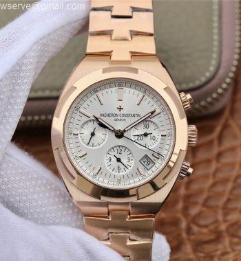 Overseas Chronograph 8F Edition RG White Dial SS Bracelet 5200