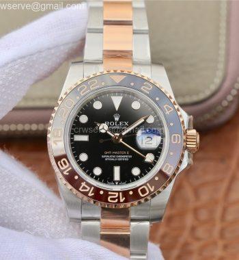 GMT-Master II 126711 CHNR Black/Brown Ceramic EWF Edition SS/RG Bracelet A2836