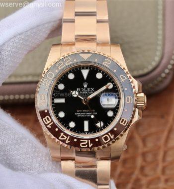 GMT-Master II 126715 CHNR Black/Brown Ceramic RG EWF Edition Black Dial RG Bracelet A2836