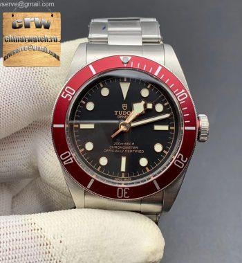 Heritage 2016 Black Bay Shield ZF Red SS Bracelet A2824