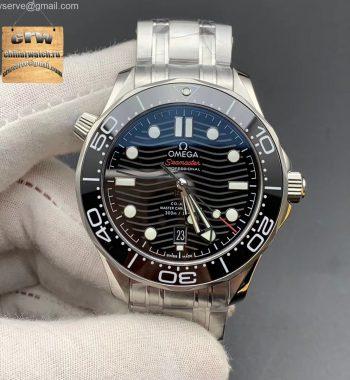 2018 Seamaster Diver 300M VSF Black Ceramic Black Dial SS Bracelet A8800