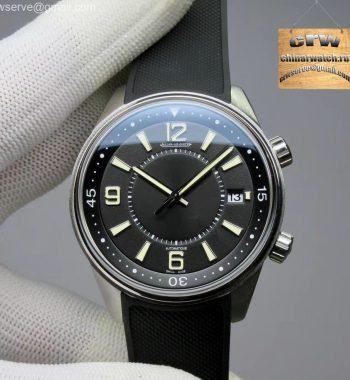 Polaris Geographic SS ZF Black Dial Black Rubber Strap MIYOTA 9015