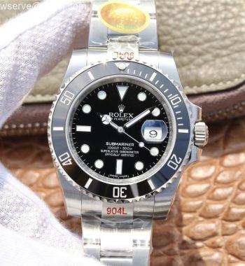 Submariner 116610 LN Black Ceramic NAIL 904L Edition SS Bracelet SA3135