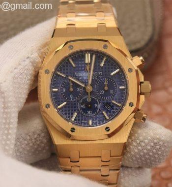 Royal Oak Chrono 26331ST YG OMF Edition Blue Dial YG Bracelet A7750