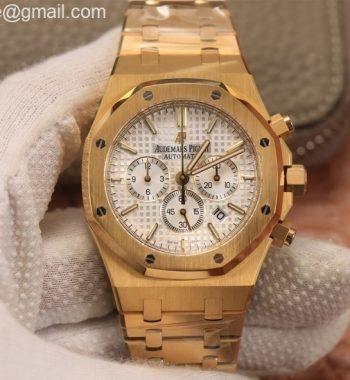 Royal Oak Chrono 26331ST YG OMF Edition White Dial YG Bracelet A7750