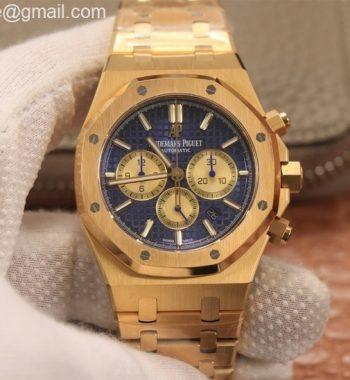 Royal Oak Chrono 26331ST YG OMF Edition Blue/Gold Dial YG Bracelet A7750
