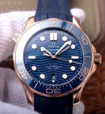 Seamaster Diver 300M RG Blue Ceramic VSF Edition Blue Dial Blue Rubber Strap A8801