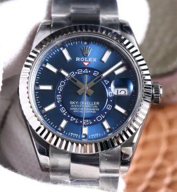 Sky-Dweller 326934 SS Noob Edition Blue Dial SS Bracelet A23J