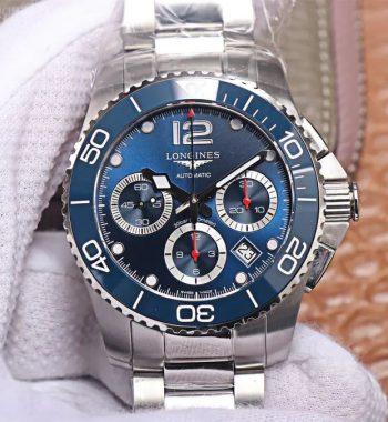 HydroConquest Chrono SS Blue Ceramic Bezel OXF Edition Blue Dial SS Bracelet A7750