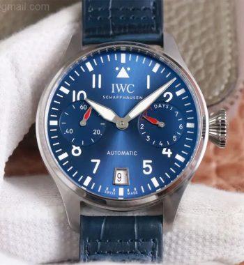 Big Pilot IW501008 Boutique London ZF Edition Blue Dial Blue Leather Strap A52010