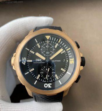 Aquatimer Chrono IW379503 Bronzo Case v6f Edition Black Dial Rubber Strap A7750