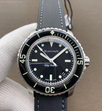 Fifty Fathoms Nageurs de Combat ZF Edition Black Dial Black Sail-canvas Strap A2836