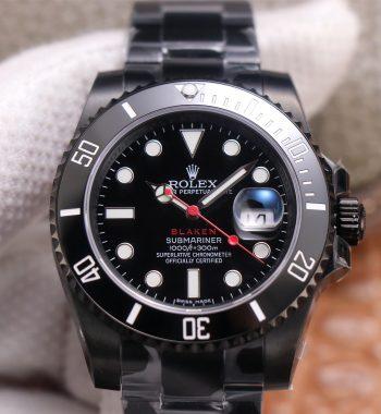 Submariner BLAKEN SINGLE RED PVD V9F Edition Black Dial PVD Bracelet A3135