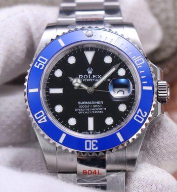 Submariner 41mm 126619 LB Blue Ceramic EWF Black Dial 904L Bracelet A3235