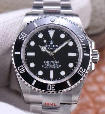 Submariner 41mm 124060 No Date EWF Black Dial 904L Bracelet A3235