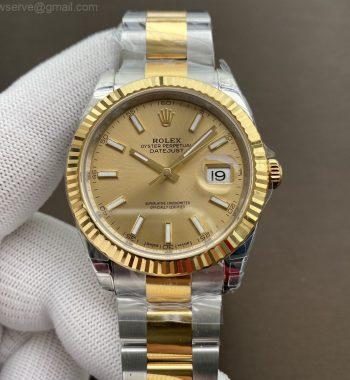 DateJust 41 126333 904L SS/YG VSF Edition YG Dial Oyster Bracelet VS3235