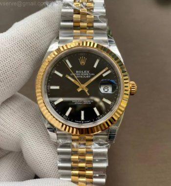 DateJust 41 126333 904L SS/YG VSF Black Dial Jubilee Bracelet VS3235