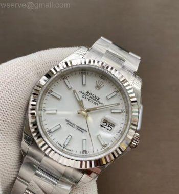 DateJust 41 126334 904L SS VSF Edition White Dial Oyster Bracelet VS3235