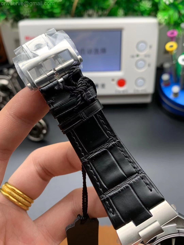 Overseas ss mks edition black dial black leather strap miyota 9015