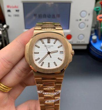 Nautilus 5711/1R PPF Edition White Textured Dial RG Bracelet 324CS