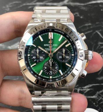 Chronomat B01 SS/SS Green Dial GF Edition Asia 7750