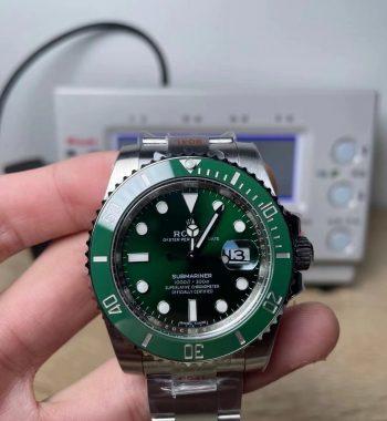 """Submariner 116610 LV Green Ceramic """"CF Bezel"""" 904L Steel EWF SA3135"""