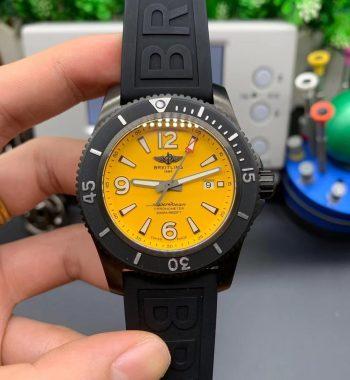 Superocean Automatic M17368D71I1 46mm TF Edition Yellow Dial Black Bezel Black Rubber Strap A2824
