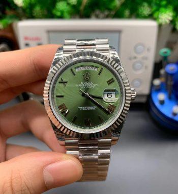Daydate 40mm Green roman Dial EWF SS Bracelet A3255