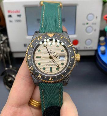 GMT DIW Carbon OMF Edition White Dial Green Nylon Strap SA3186 CHS