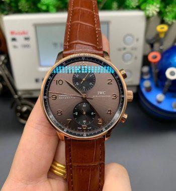 Portuguese Chrono IW371482 ZF Edition Black Leather Strap A7750